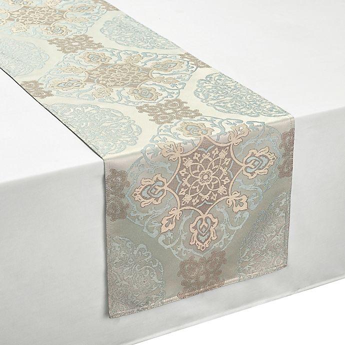 Alternate image 1 for Waterford® Linens Jonet Table Runner in Aqua