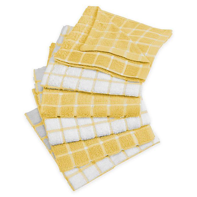 design imports windowpane dish cloth (set of 6)   bed bath & beyond