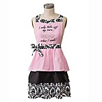 "Jabara ""I Take off My Tiara"" Apron in Pink"