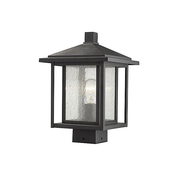 Alternate image 1 for Filament Design Aspen Post-Mount Outdoor 13.25-Inch Light in Black
