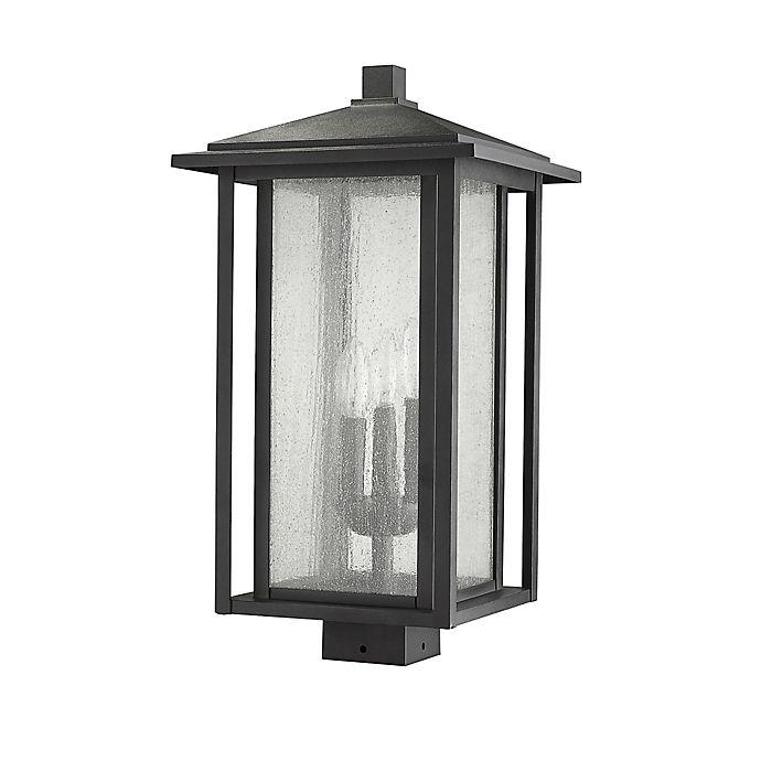 Alternate image 1 for Filament Design Aspen Post-Mount Outdoor 21-Inch Light in Black