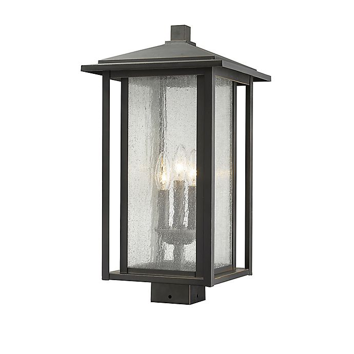 Alternate image 1 for Filament Design Aspen Post-Mount Outdoor 21-Inch Light in Oil Rubbed Bronze