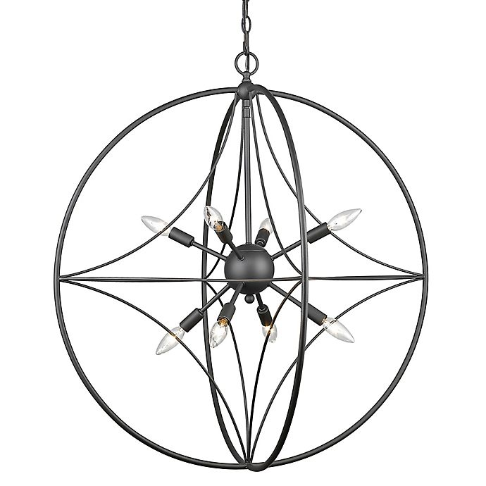 Alternate image 1 for Filament Design Cage 8-Light 30-Inch Ceiling Mount Pendant Light in Bronze