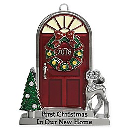 Crystals from Swarovski® Harvey Lewis™ Ornate New Home Door Ornament