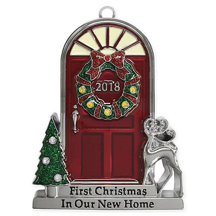 Alternate image 1 for Crystals from Swarovski® Harvey Lewis™ Ornate New Home Door Ornament