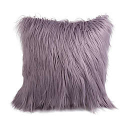 Style Co-Op Flokati Faux Fur Square Throw Pillow in Blue