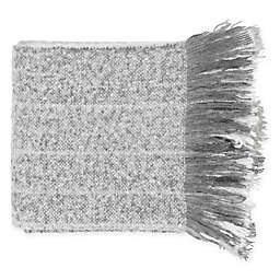 Surya Arrah Throw Blanket in Grey/White