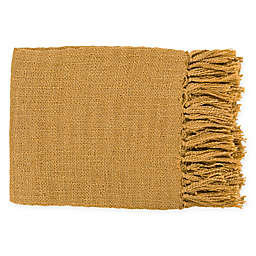 Surya Tilda Throw Blanket in Mustard