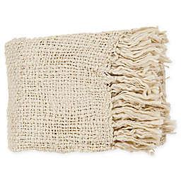 Surya Tobias Throw Blanket in Ivory