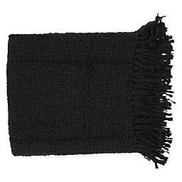 Surya Tobias Throw Blanket in Black