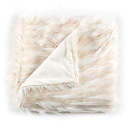 De Moocci Eyelash Faux Fur Throw Blanket