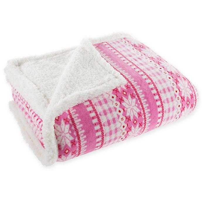 Alternate image 1 for Nottingham Home Sherpa Fleece Throw Blanket