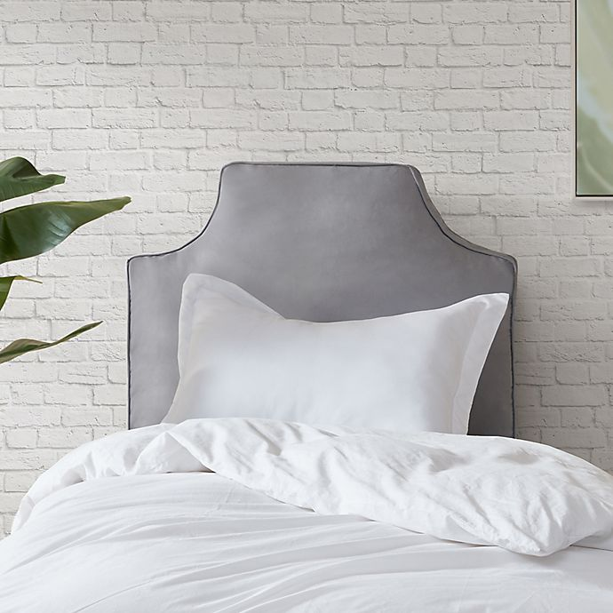 Alternate image 1 for Intelligent Design Oversized Headboard Backrest Pillow in Grey