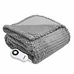 Therapedic® Faux Fur Electric Throw Blanket in Grey