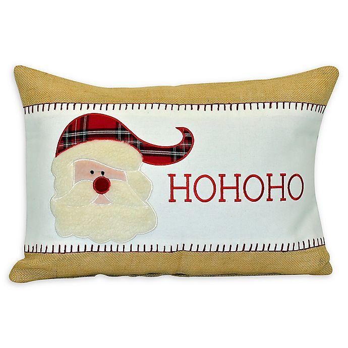 Alternate image 1 for HOHOHO Santa Rectangular Decorative Pillow in Red
