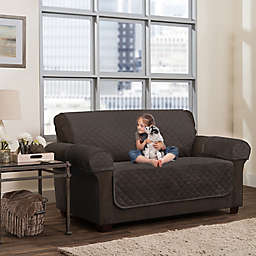 Smart Fit 3-Piece Waterproof Plush Loveseat Cover