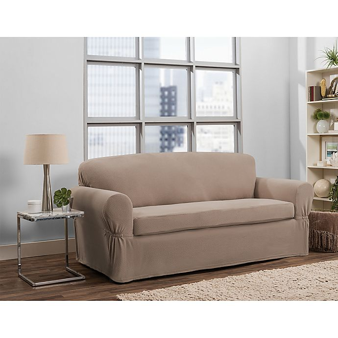 Smart Fit Tinsley 2-Piece Polyester Stretch Sofa Slipcover | Bed ...