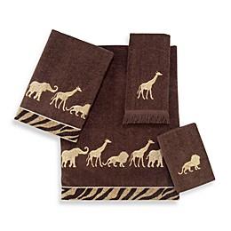 Avanti Animal Parade Bath Towel Collection in Mocha