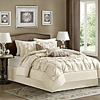 Madison Park Laurel 7-Piece King Comforter Set in Ivory
