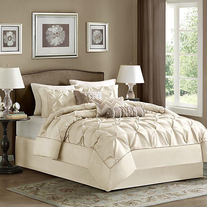 Alternate image 1 for Madison Park Laurel 7-Piece Full Comforter Set in Ivory