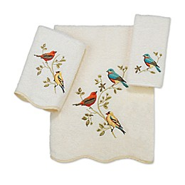 Avanti Premier Songbirds Bath Towel Collection in Ivory