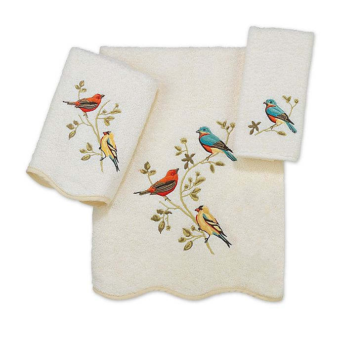 Alternate image 1 for Avanti Premier Songbirds Bath Towel Collection in Ivory