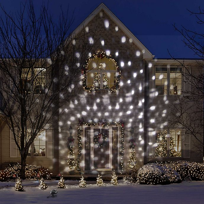 Gemmy Christmas Lights.Gemmy Snowflurry Projector Light In White