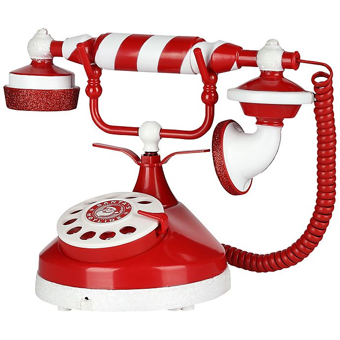 Alternate image 1 for Gemmy® Santa's Animated Phone in Red