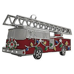 Crystals from Swarovski® Harvey Lewis™ Fire Truck Ornament in Multicolor