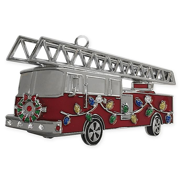 Crystals from Swarovski® Harvey Lewis™ Fire Truck Ornament ...