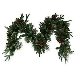 6-Foot Pre-Lit Traditional Cashmere Garland (Set of 2)