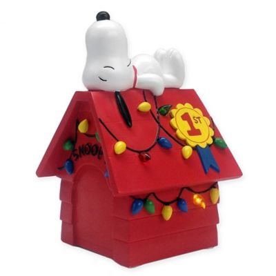 hallmark snoopy dog house pre lit decoration bed bath beyond