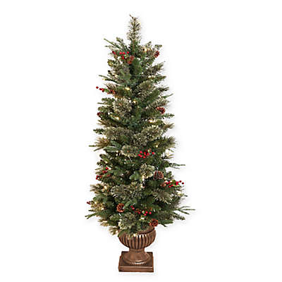 5-Foot Cashmere Pine Pre-Lit Christmas Tree with Lights