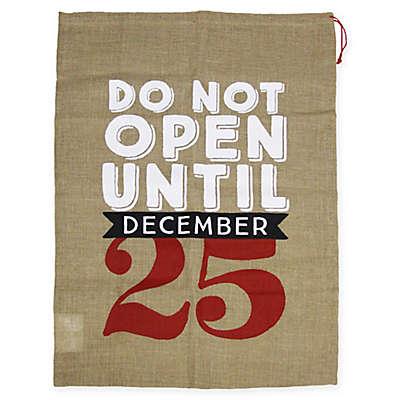 Winter Wonderland Do Not Open Burlap Gift Bag