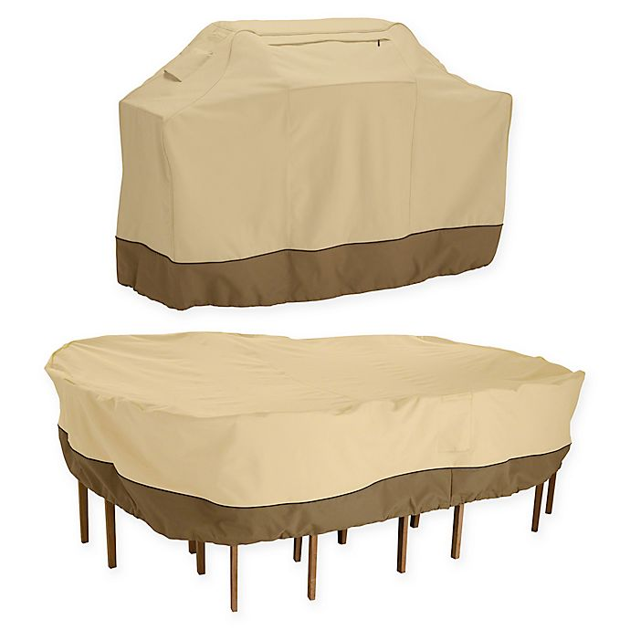 Classic Accessories Veranda Grill Cover And Patio Table And Chair Cover Bundle Bed Bath Beyond