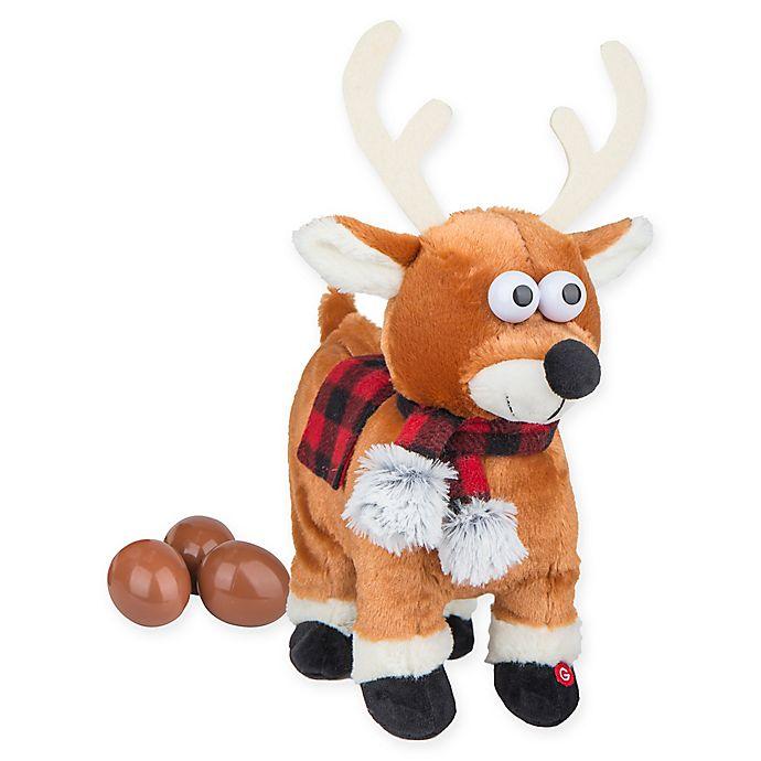 Alternate image 1 for Gemmy® Pooping Reindeer Egg Drop Crazy Christmas Reindeer