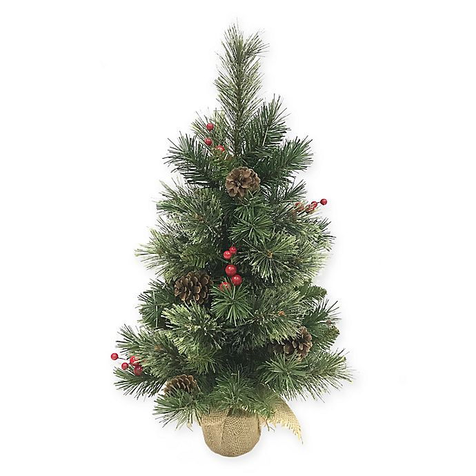 Cashmere Pine Mixed Tip 2-Foot Artificial Christmas Tree ...