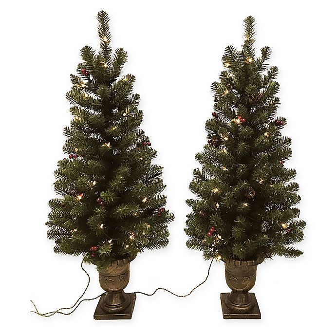 4 Foot Christmas Tree.Winter Wonderland 4 Foot Pre Lit Entrance Christmas Trees