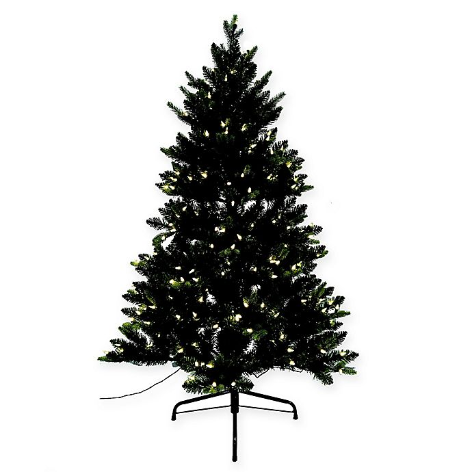 Alternate image 1 for Spruce 4.5-Foot Pre-Lit Christmas Tree with Memory Wire Branches