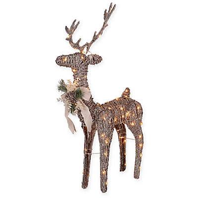 LED Decorative 48-Inch Rattan Reindeer