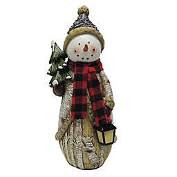 rustic polyresin christmas 10 inch snowman