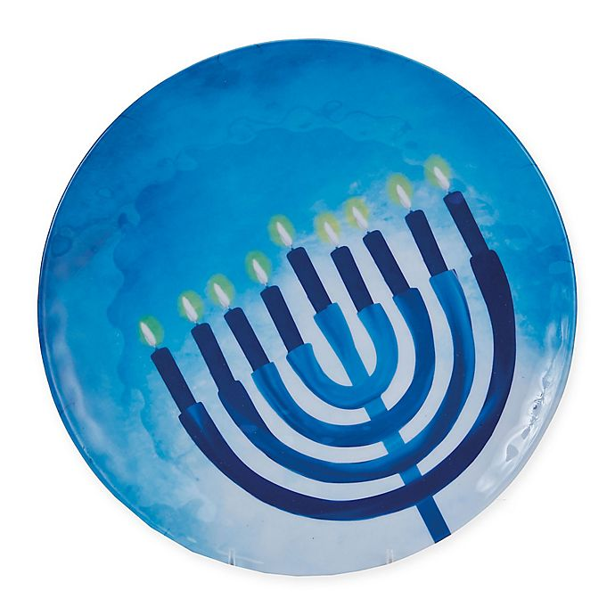 Alternate image 1 for Hanukkah Menorah Melamine Platter