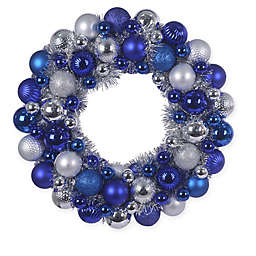 Hanukkah Ornament Wreath in Blue/Silver