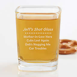 Name Your Troubles Personalized Shot Glass