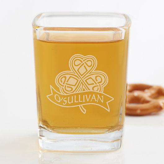 Alternate image 1 for Celtic Shamrock Personalized Shot Glass