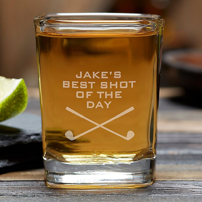 Alternate image 1 for Best Shot Of The Day Personalized Golf Shot Glass