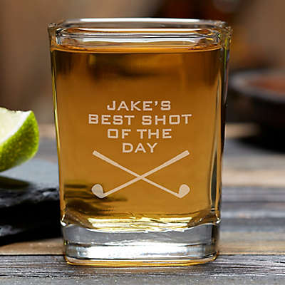Best Shot of the Day Golf Shot Glass