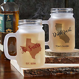 State Pride Frosted Mason Jar