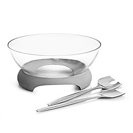 Nambe Forte Salad Bowl with Servers