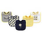 Hudson Baby® 5-Pack Daisy Drooler Bibs in Blue
